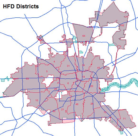 Houston Fire Department HFD Scanner Frequencies and Talkgroups